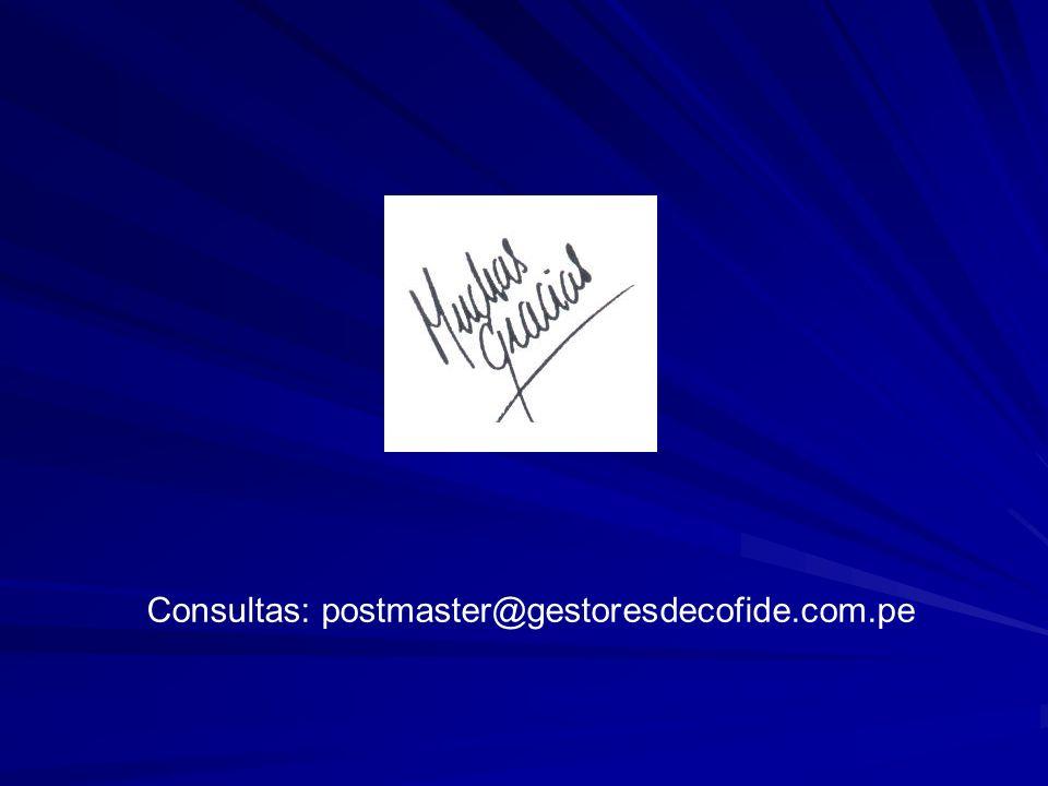 Consultas: postmaster@gestoresdecofide.com.pe