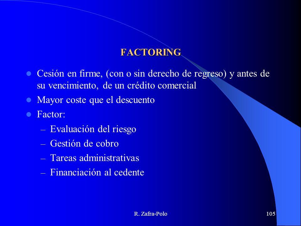 Mayor coste que el descuento Factor: Evaluación del riesgo
