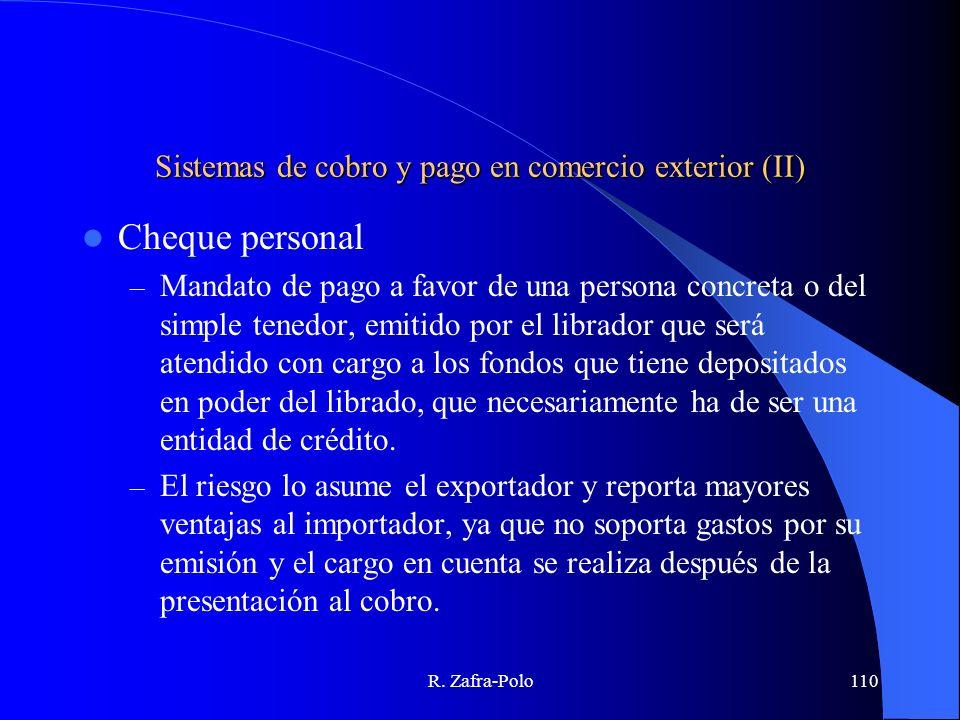 Sistemas de cobro y pago en comercio exterior (II)