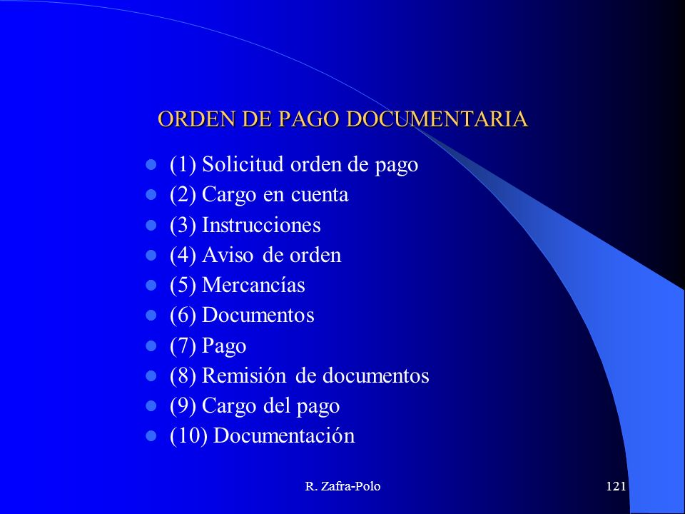 ORDEN DE PAGO DOCUMENTARIA
