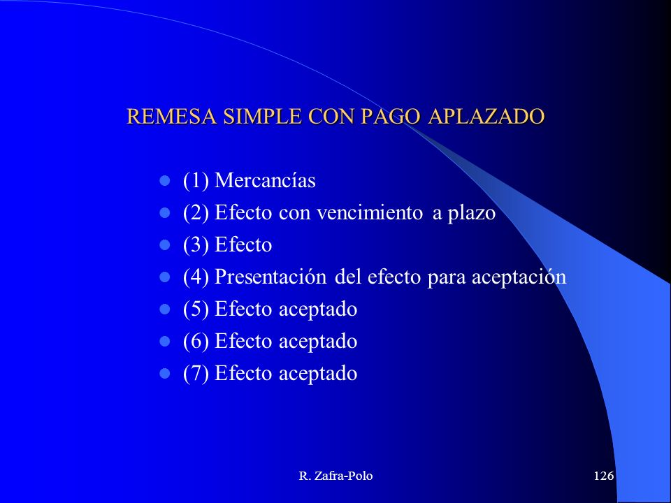 REMESA SIMPLE CON PAGO APLAZADO