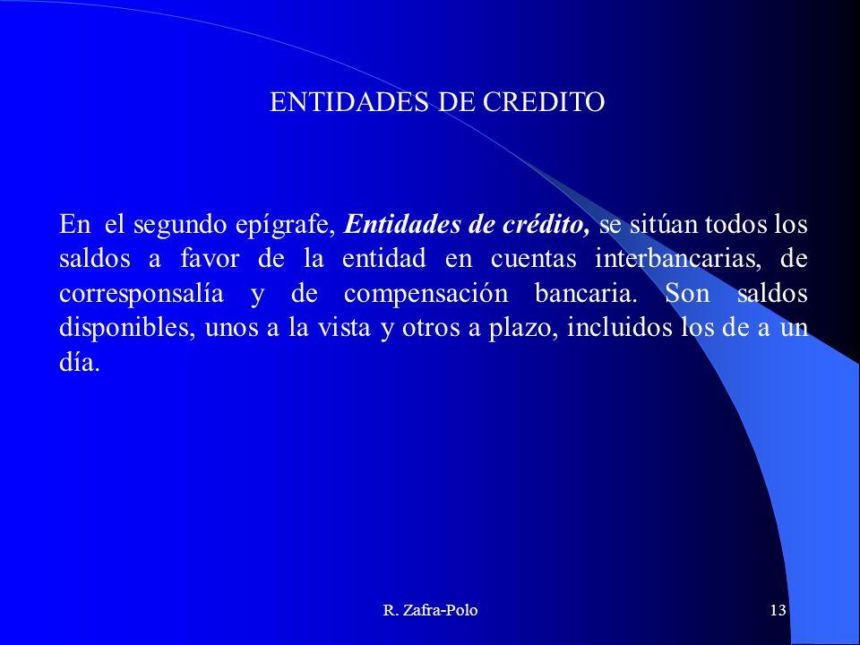 ENTIDADES DE CREDITO