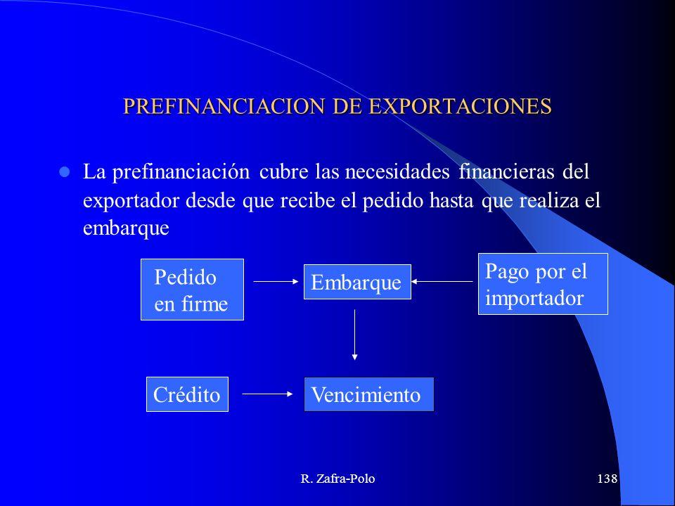 PREFINANCIACION DE EXPORTACIONES