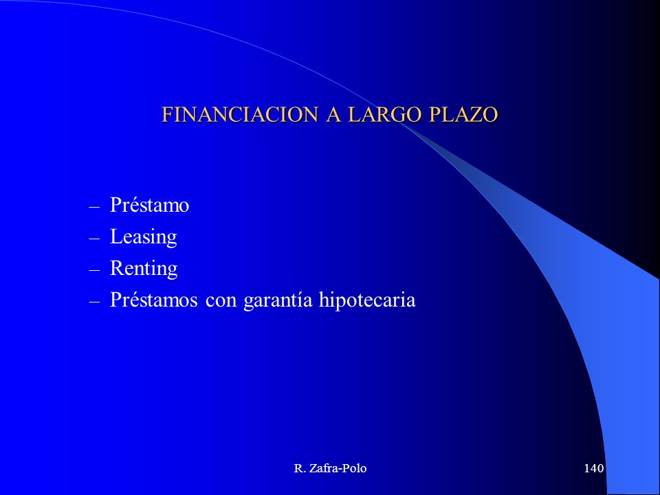 FINANCIACION A LARGO PLAZO