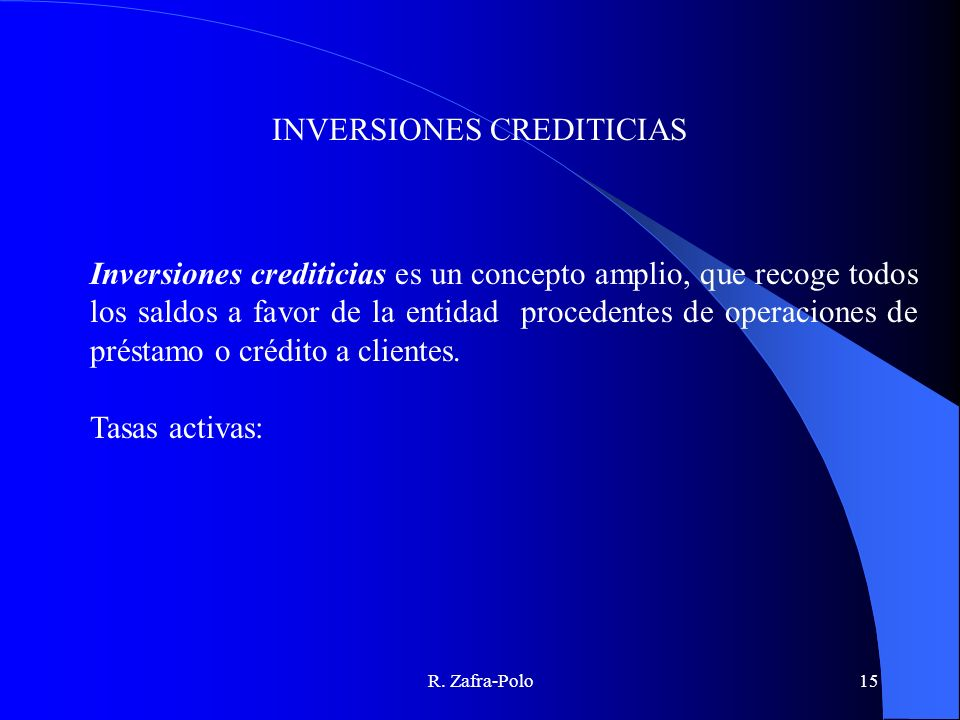 INVERSIONES CREDITICIAS