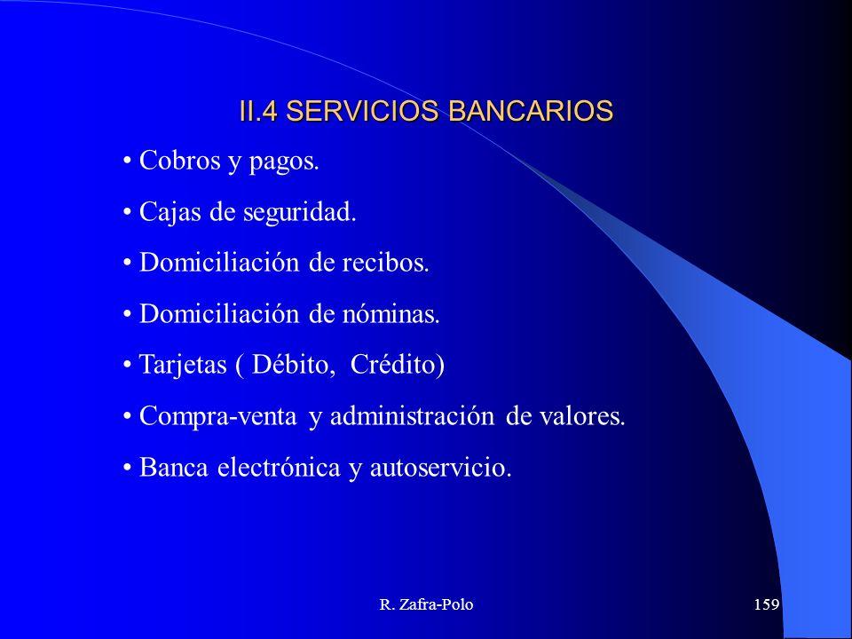 II.4 SERVICIOS BANCARIOS