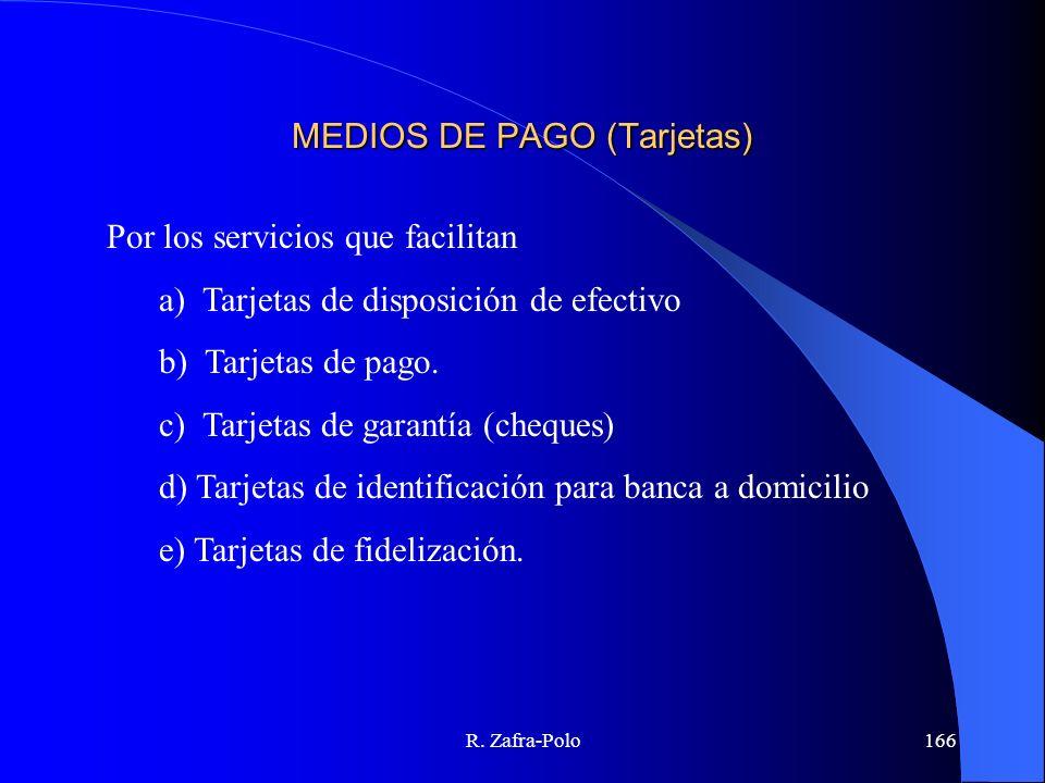 MEDIOS DE PAGO (Tarjetas)