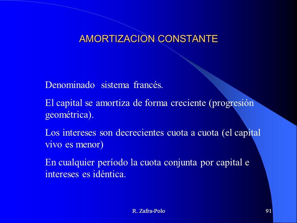 AMORTIZACION CONSTANTE