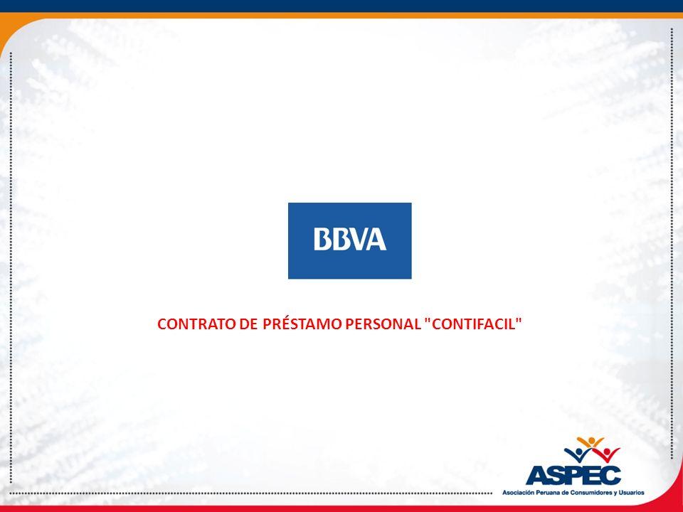 CONTRATO DE PRÉSTAMO PERSONAL CONTIFACIL