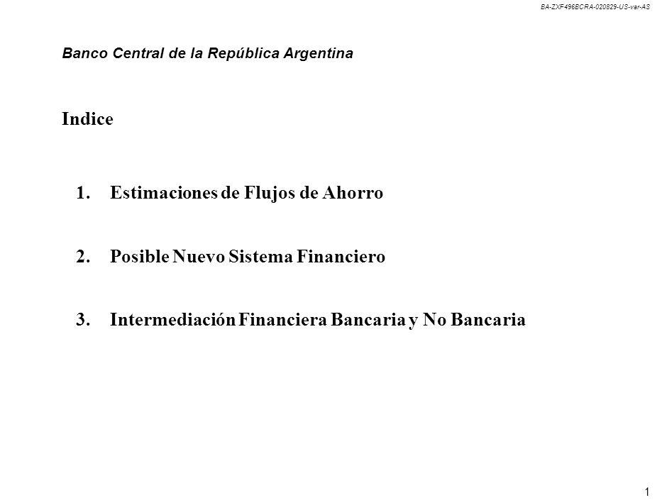Banco Central de la República Argentina Estimación de Flujos
