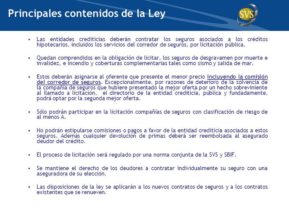 Principales contenidos de la Ley