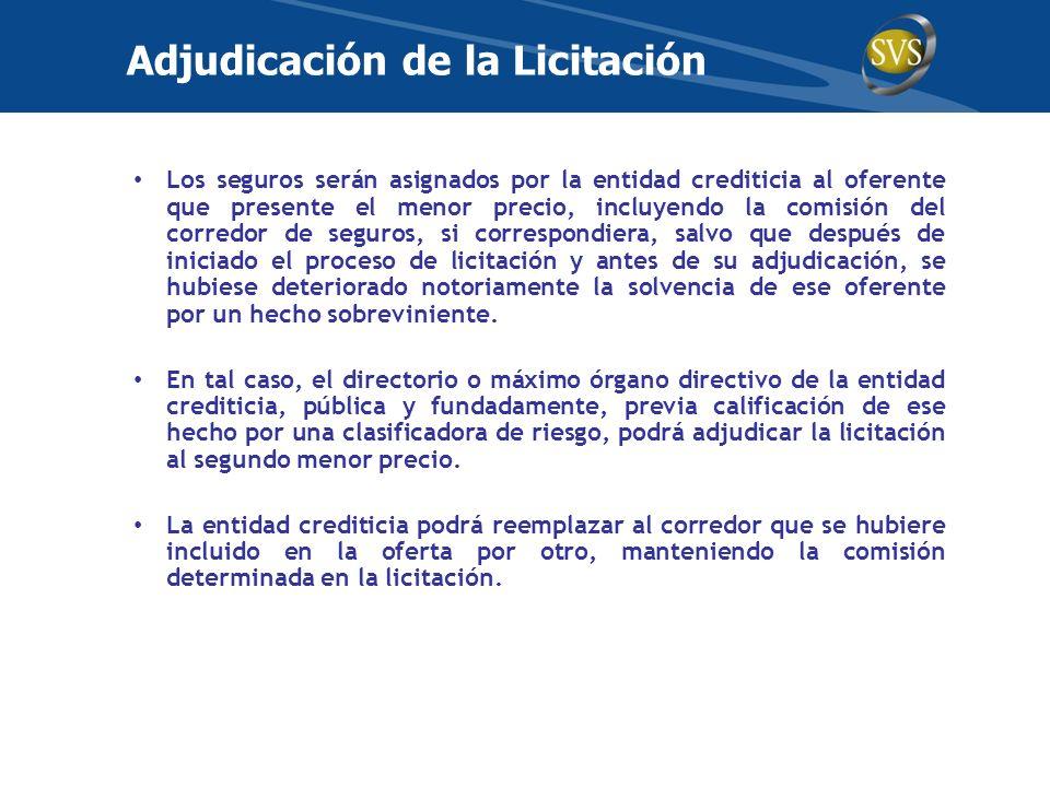 Adjudicación de la Licitación