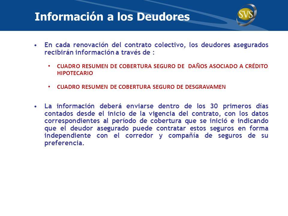 Información a los Deudores