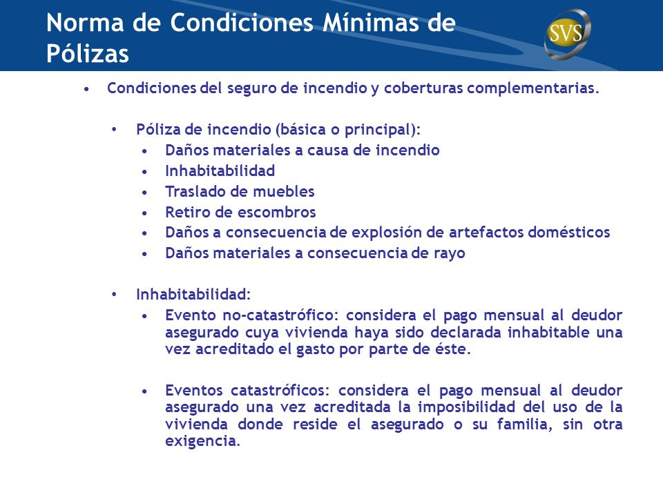 Norma de Condiciones Mínimas de Pólizas