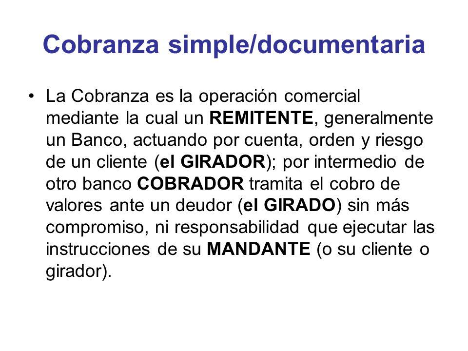 Cobranza simple/documentaria