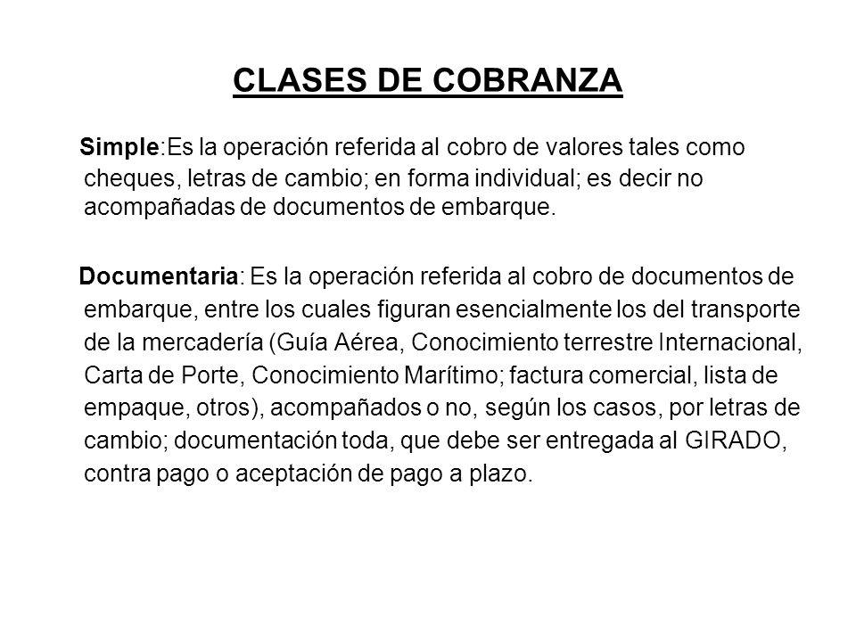 CLASES DE COBRANZA