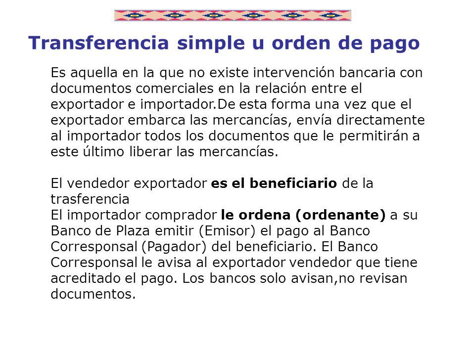 Transferencia simple u orden de pago