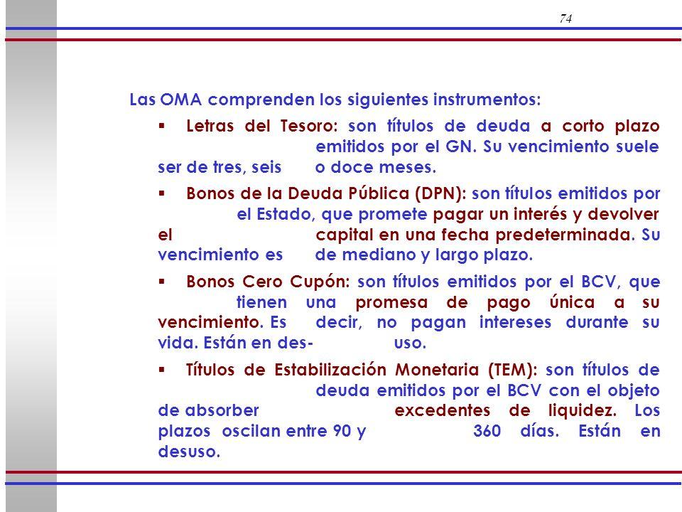 Las OMA comprenden los siguientes instrumentos: