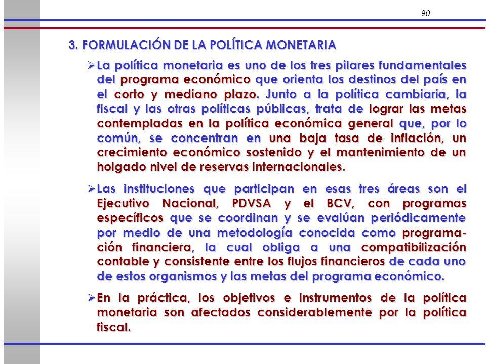 3. FORMULACIÓN DE LA POLÍTICA MONETARIA