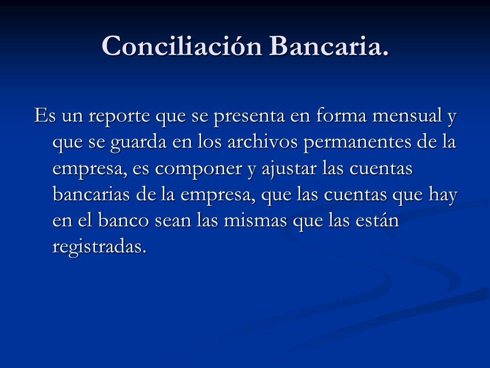 Conciliación Bancaria.