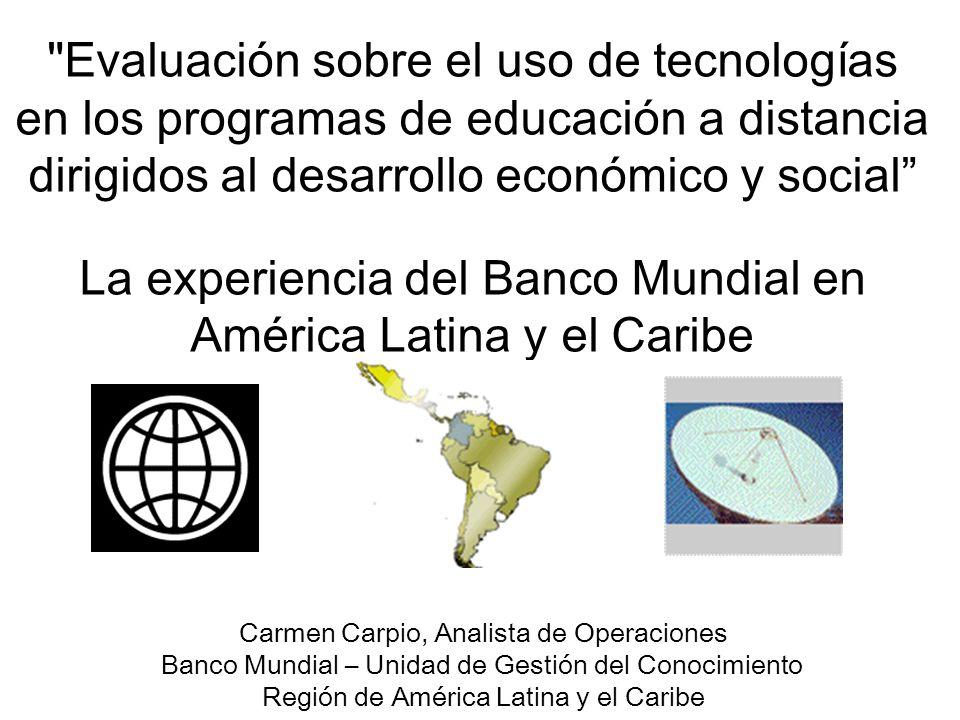 La experiencia del Banco Mundial en América Latina y el Caribe