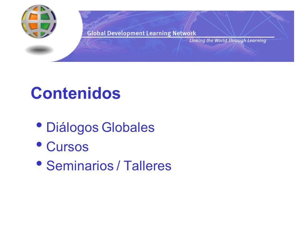 Diálogos Globales Cursos Seminarios / Talleres