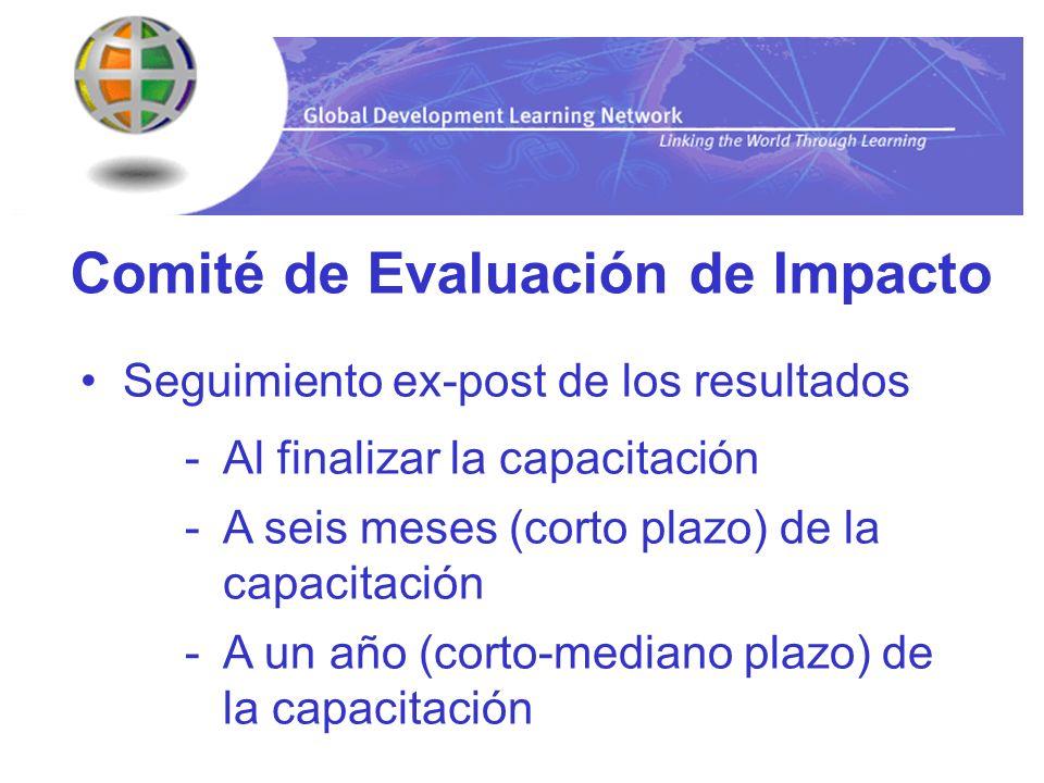 Comité de Evaluación de Impacto