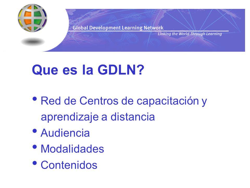 Que es la GDLN Red de Centros de capacitación y