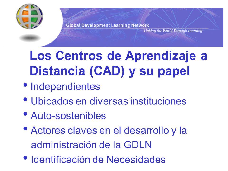 Los Centros de Aprendizaje a Distancia (CAD) y su papel