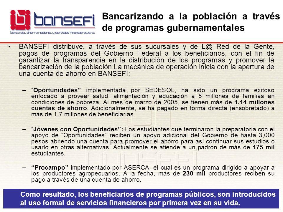 Bancarizando a la población a través de programas gubernamentales