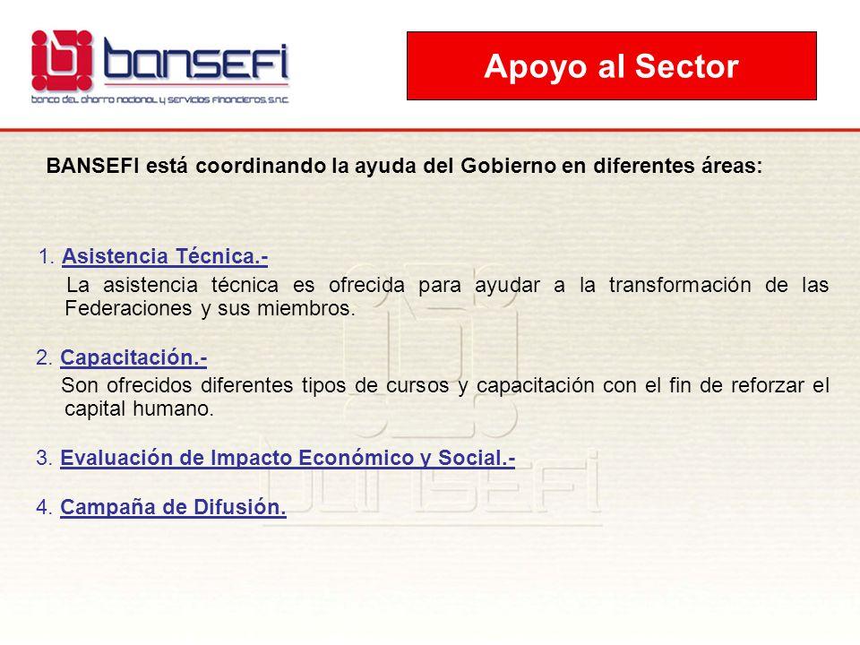 BANSEFI está coordinando la ayuda del Gobierno en diferentes áreas:
