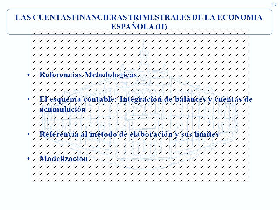 LAS CUENTAS FINANCIERAS TRIMESTRALES DE LA ECONOMIA ESPAÑOLA (II)