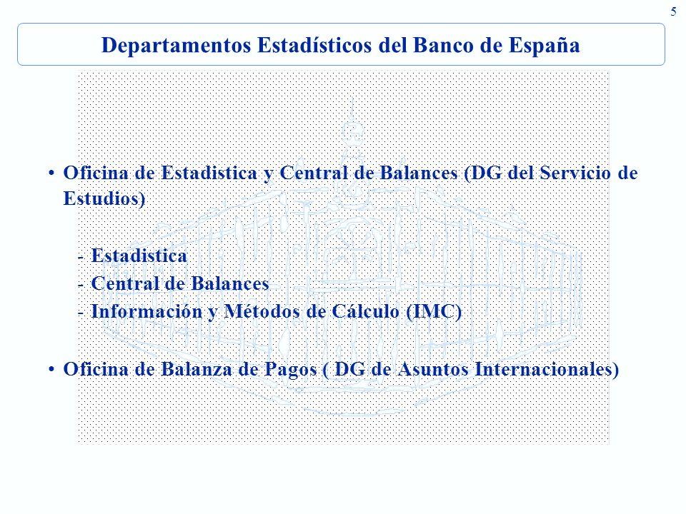 Departamentos Estadísticos del Banco de España
