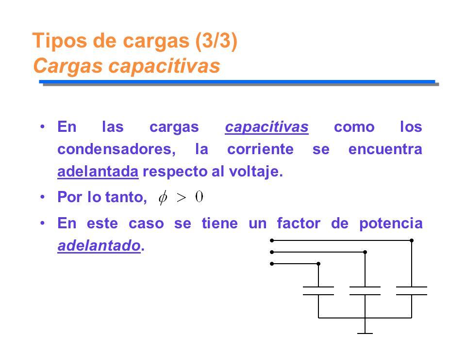 Tipos de cargas (3/3) Cargas capacitivas