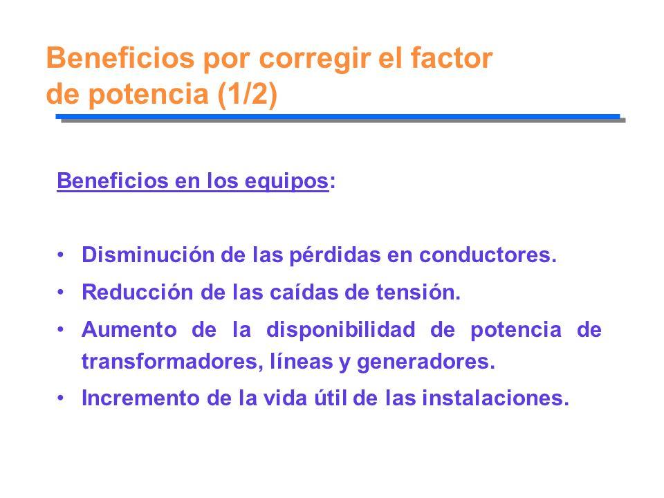 Beneficios por corregir el factor de potencia (1/2)