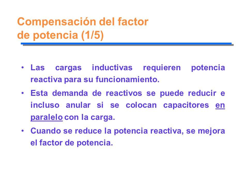 Compensación del factor de potencia (1/5)
