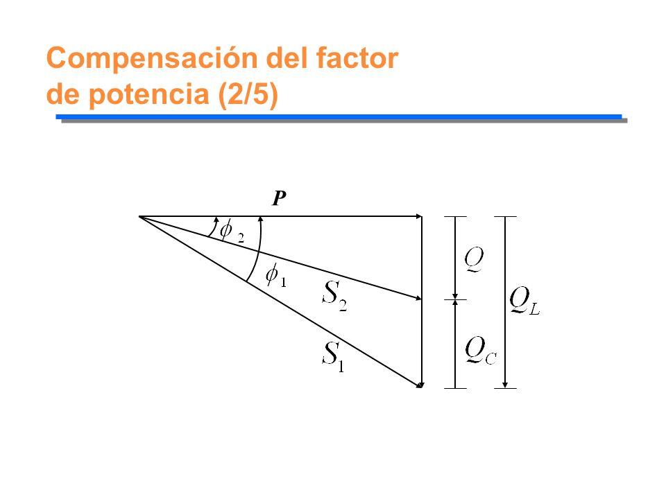 Compensación del factor de potencia (2/5)