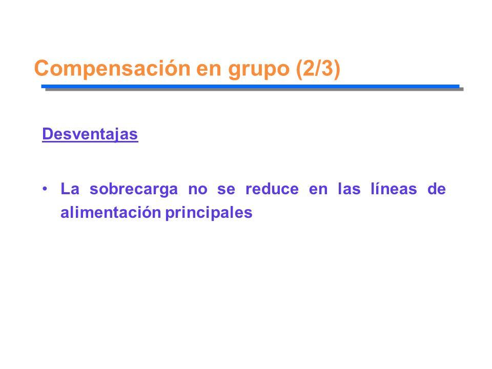 Compensación en grupo (2/3)