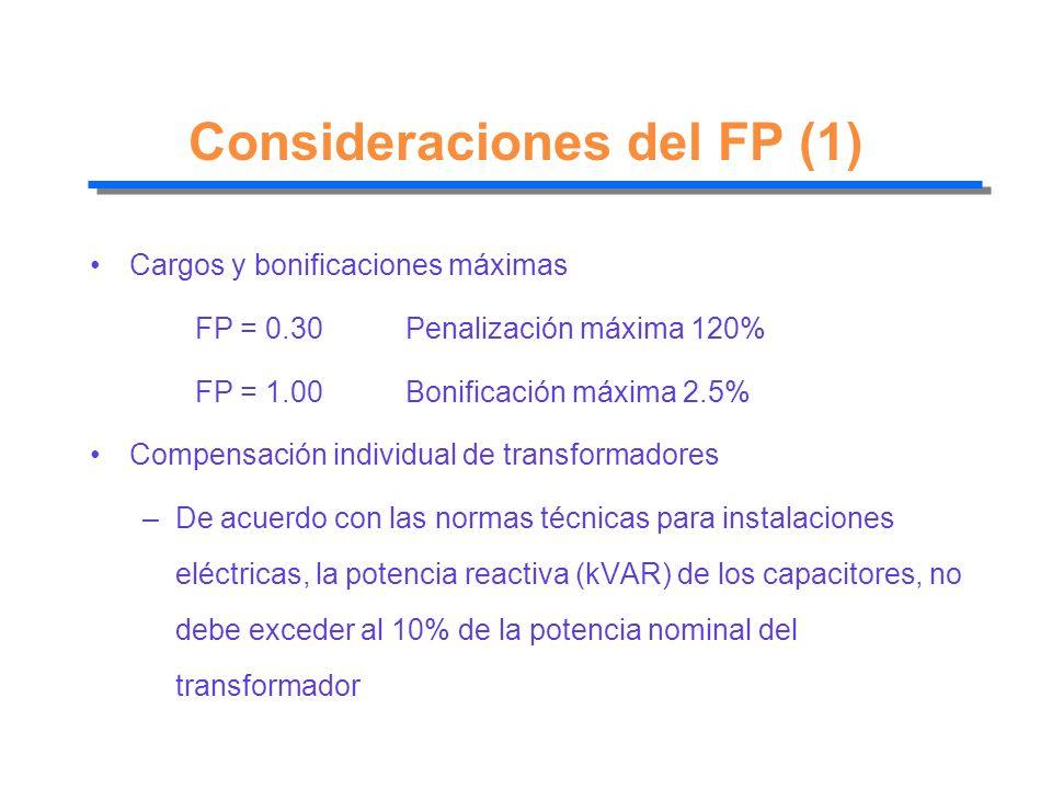 Consideraciones del FP (1)