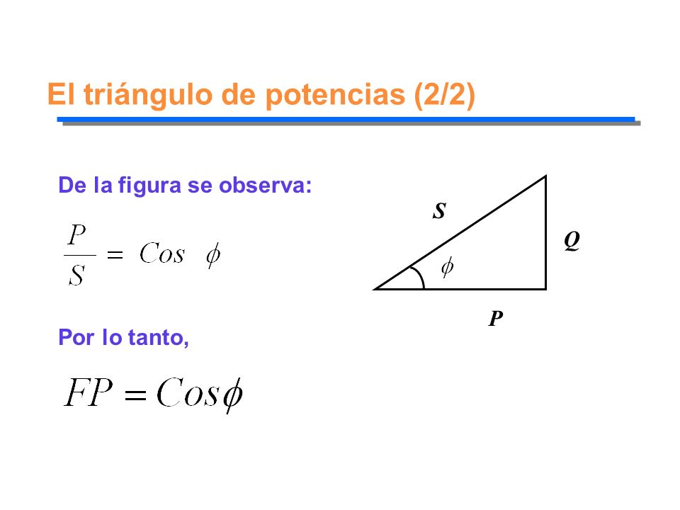 El triángulo de potencias (2/2)