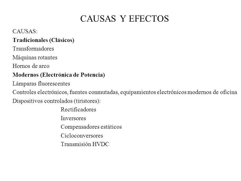 CAUSAS Y EFECTOS CAUSAS: Tradicionales (Clásicos) Transformadores