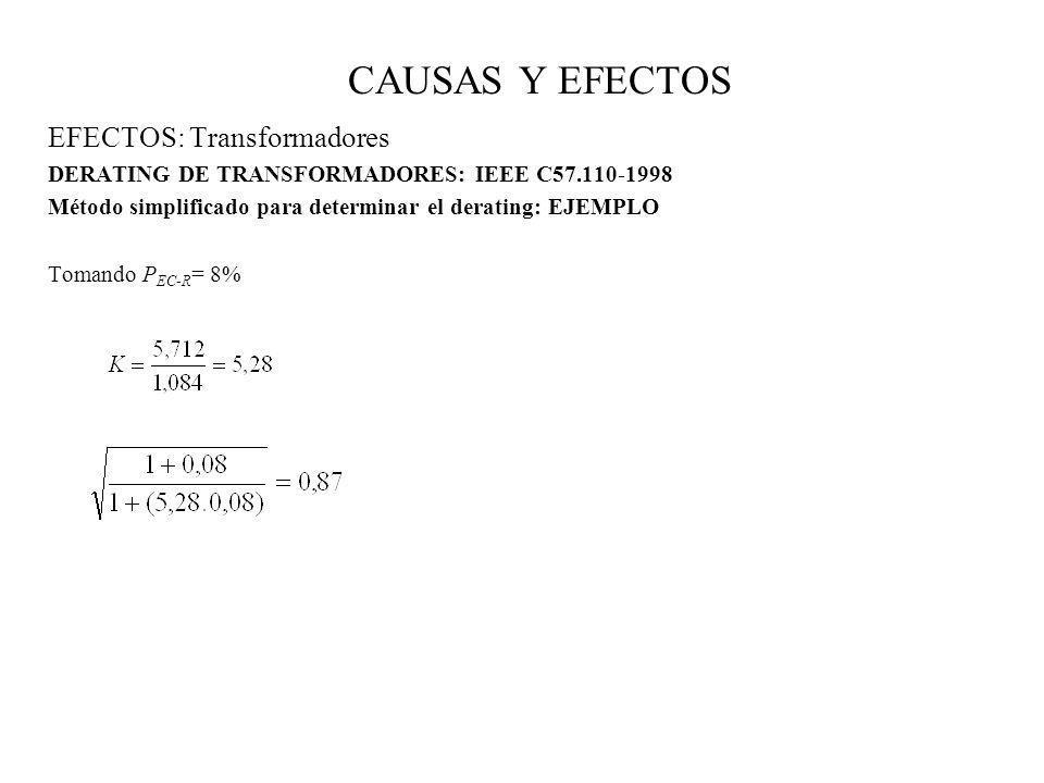 CAUSAS Y EFECTOS EFECTOS: Transformadores