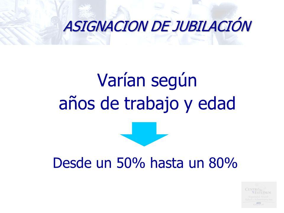 ASIGNACION DE JUBILACIÓN