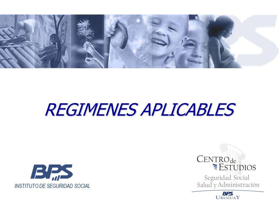 REGIMENES APLICABLES