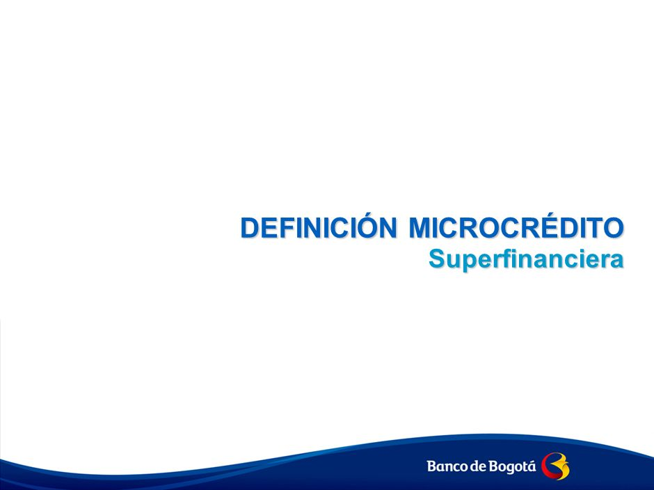 Definición Microcrédito