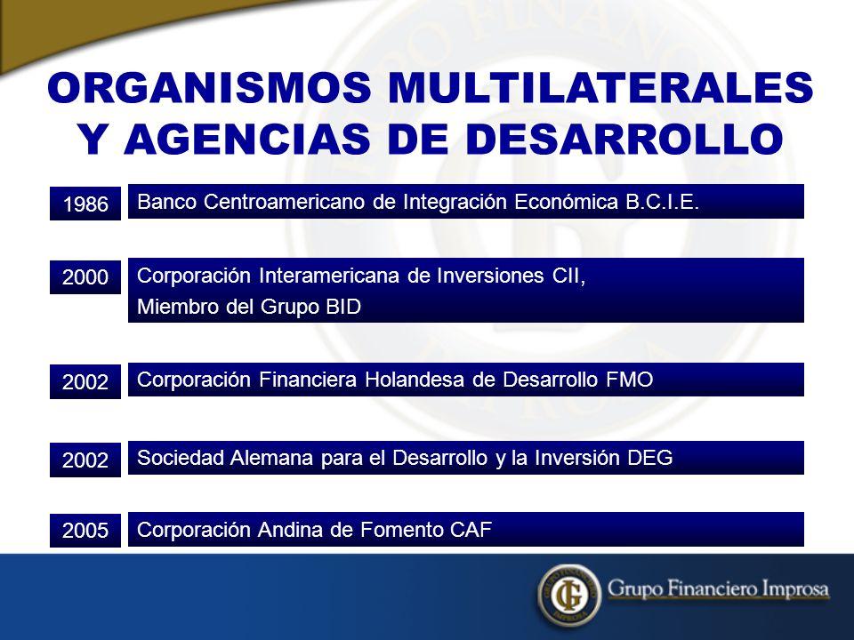 ORGANISMOS MULTILATERALES Y AGENCIAS DE DESARROLLO