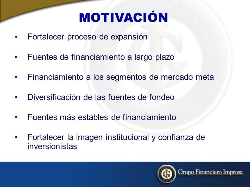 MOTIVACIÓN Fortalecer proceso de expansión