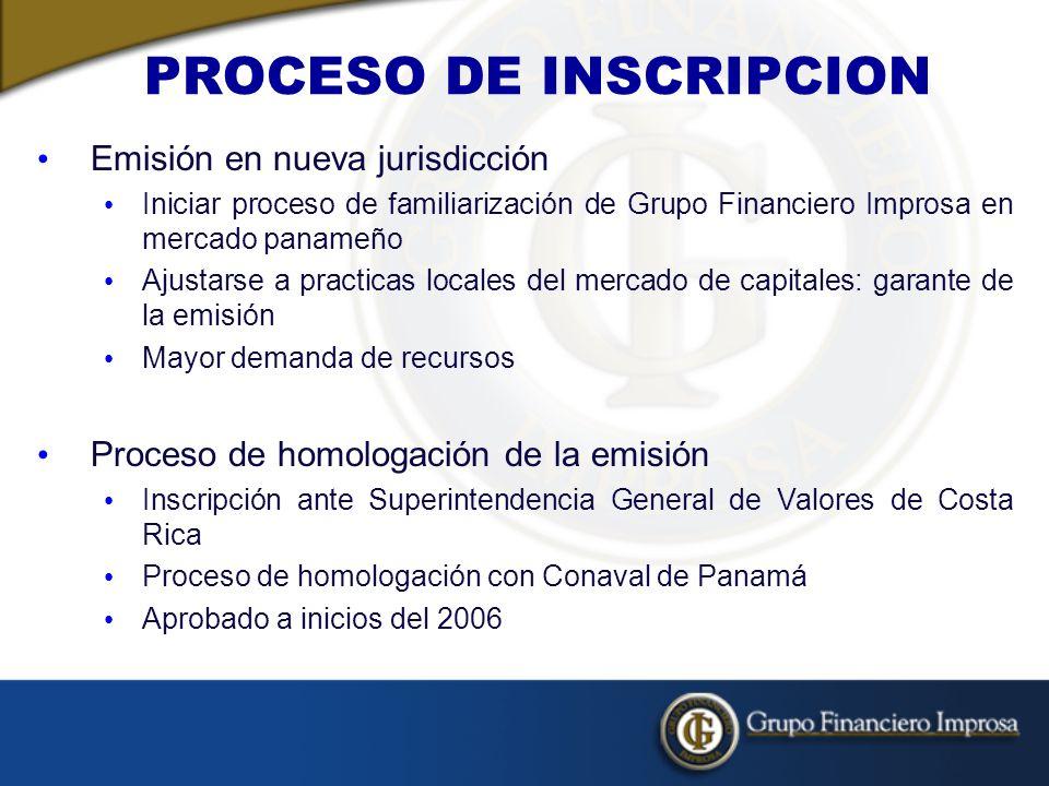 PROCESO DE INSCRIPCION