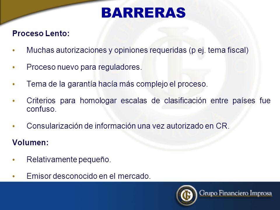 BARRERAS Proceso Lento: