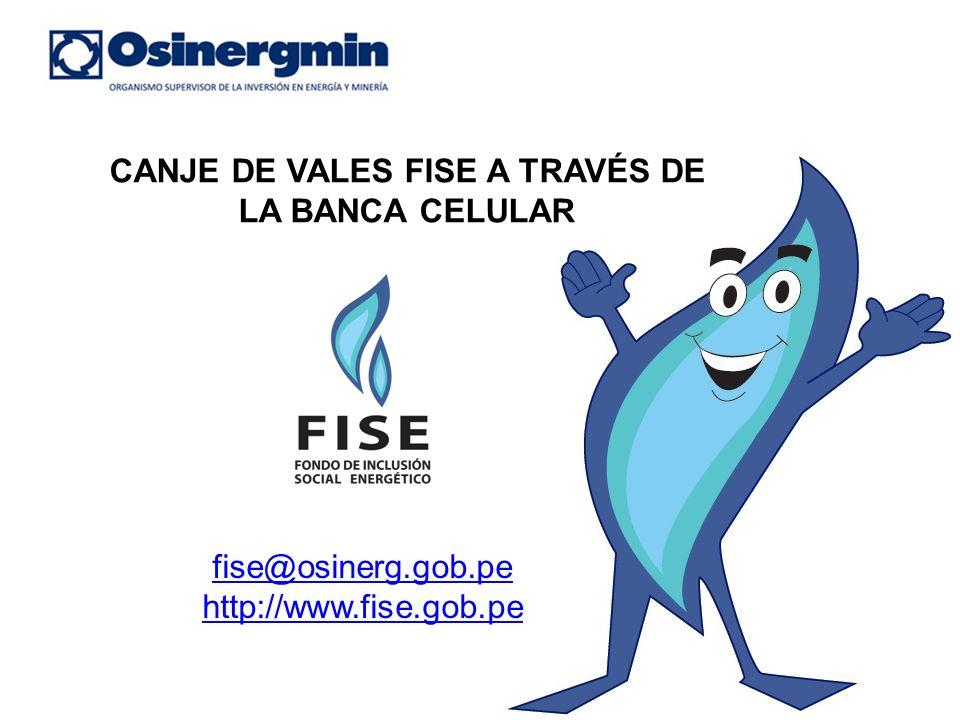 CANJE DE VALES FISE A TRAVÉS DE LA BANCA CELULAR